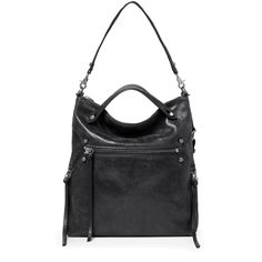 $298 Botkier Logan Hobo Luxe and supple, this designer leather hobo moulds to give a chic slouch when slung over your shoulder with it's bold crossbody strap or forms a more structured shape when you grab it by the handles to hit the town for the day.  It will take you from work to weekend (and back again!)  Imported leather. Brushed silver hardware. Top zip closure. Leather handles and nylon
