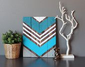 "Modern Chevron Arrow wood wall art sign 11""x14"""