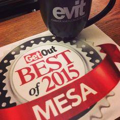 We won! #EVIT was voted Best Public School & Best Workplace! Congrats to @evitmultimedia's Eric Perez for being voted Best High School teacher. #EVITBistro13 was also voted Best Specialty Restaurant! #WeAreEVIT