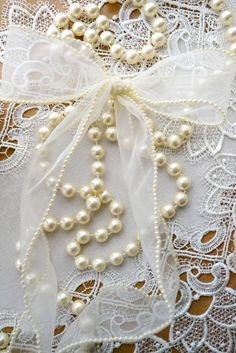 Pearls and lace ...