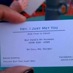 Pick-up card... Literally