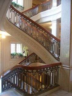 Pittock Mansion Grand Staircase, Portland, OR. This staircase had to be built in place because of the curvature.