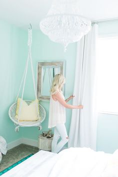 Mint bedroom decor bedroom mint ideas chevron d on gorgeous turquoise room decorations and designs mint . Mint Bedroom Decor, Bedroom Green, Mint Decor, Teal Beach Bedroom, Mint Bedroom Walls, Bright Bedroom Colors, Room Color Ideas Bedroom, Nautical Bedroom, My New Room