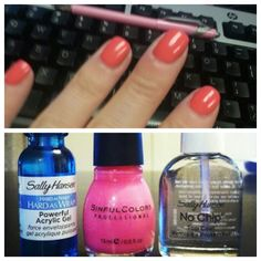 Do your own gel manicure at home! Don't waste money on a salon job! Just make sure you let each coat dry thoroughly!!!