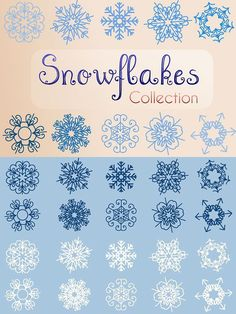 Snowflakes Collection. Christmas Patterns. $5.00