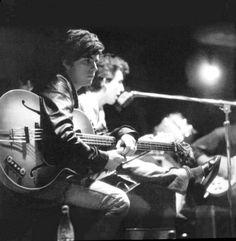 Stuart Sutcliffe and George Harrison.