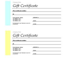 Free Gift Certificate Templates (1)