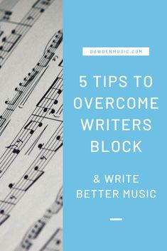 Feeling blocked with your music? Checkout my 5 tips to overcome writers block and write better music! I have electronic music production tips and videos to take your music production to the next level. Save this pin and be sure to checkout the blog!