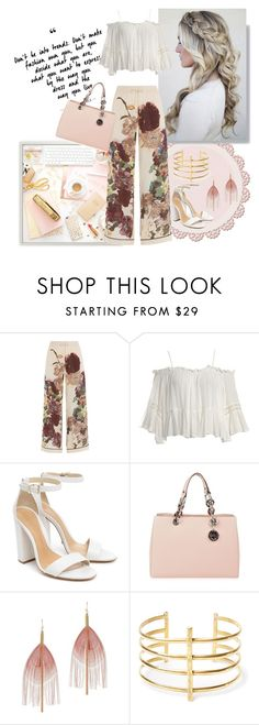 """###"" by mmirela ❤ liked on Polyvore featuring Valentino, Sans Souci, Schutz, MICHAEL Michael Kors, Serefina and BauXo"