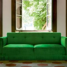 Wonder if my roommates would mind a bright green sofa in our living room