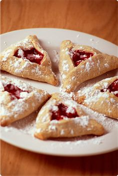 Jewish holiday hamentaschen recipe - Haman's Ears! I knew this thanks to Beth Moore.