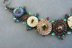 Sewing Button Jewelry - Bing Images. If you like unique handmade button jewelry, visit the online Etsy store of A Pinch of Panache.  New jewelry is made weekly! https://www.etsy.com/shop/APinchofPanache