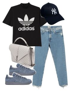 """Untitled #11200"" by minimalmanhattan ❤ liked on Polyvore featuring Acne Studios, adidas, Yves Saint Laurent and New Era"