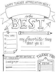 $8 Teacher Appreciation Week Customizable Download