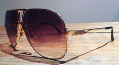 Boeing by Carrera 5700 Gold Sunglasses 549 Carrera Sunglasses, Top Sunglasses, Vintage Sunglasses, Tony Stark Sunglasses, Mens Glasses Frames, Mens Trainers, Vintage Frames, Mens Fashion, Street Fashion
