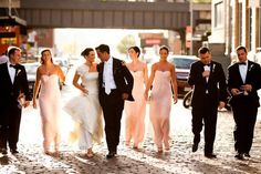 """WPJA 2010 Q2 Contest - CREATIVE PORTRAIT OF BRIDAL PARTY - 1st Place - Photo By: Roey Yohai from The United States  Judges Comments:  Very """"Reservoir Dogs"""" style. Love the use of street/alley environment.   More photos/info at http://www.WPJA.com/"""
