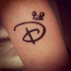 Disney 'D' tattoo