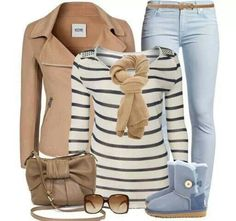 beige and jeans