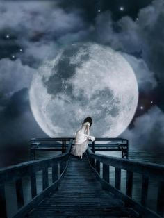 And only my friend the moon knows all my secrets and what's on my heart...