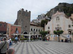 The village of Taormina, Sicily.  #taormina
