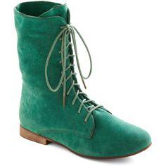 Lady in Rad Boot in Aqua ($30) via Polyvore