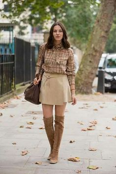 Autumn colors and boots trend