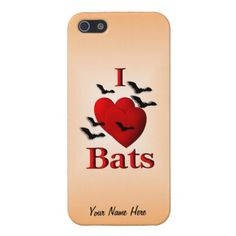 I Heart Bats Peronal Design Case iPhone 4 and 5 iPhone 5 Cover