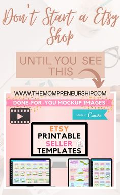 A complete bundle of Done-For-You Shop Mockup templates to jumpstart your Etsy shop with beautiful Shop Banner, Product Listing Images, and shareable Pinterest Pins. Open an Etsy shop now and fill it with eye-catching printable product listing inventory. Made with Canva. #canvatemplates #etsy #etsyshop #onlineshop #onlinestore Sell On Etsy, My Etsy Shop, Printable Planner, Printables, Opening An Etsy Shop, Mockup Templates, Life Planner, Pin Image, Etsy Store