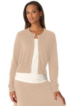 3b8dc594388 Jessica London® Jeweled Neckline Shrug love Plus Size Sweaters