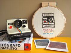 "Quadrinho bastidor ""Polaroid"" - FofysFactory"