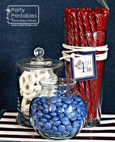This 4th of July make your party sparkle radical red, white and b'dazzled blue with these patriotic DIY decorations!