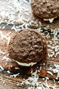 Chocolate Coconut Creme Pies Recipe - Tastes of Lizzy T