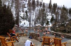 Relax in Colorado's most austere and naturally beautiful hot springs: Strawberry Park Hot Springs. #travel #Colorado