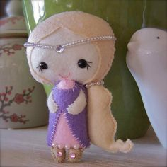 Rapunzel doll - made using a pattern by 'Gingermelon'