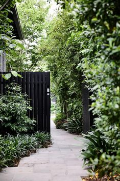 30 adorable Black Garden ideas for amazing garden inspiration . 30 adorable Black Garden ideas for amazing garden inspiration In mod. Side Garden, Garden Paths, Corner Garden, Garden Borders, Garden Pool, Garden Table, Tropical Garden, Tropical Plants, Garden Art