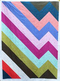 chevron quilt half square triangles
