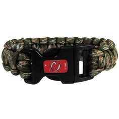 "Checkout our #LicensedGear products FREE SHIPPING + 10% OFF Coupon Code ""Official"" New Jersey Devils Camo Survivor Bracelet - Officially licensed NHL product Contains 2 nylon paracord rated cords Each cord is 5 ft. long and 300lb test The cords come camo colors New Jersey Devils emblem on the clasp - Price: $16.00. Buy now at https://officiallylicensedgear.com/new-jersey-devils-camo-survivor-bracelet-hsub50gc"