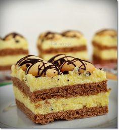 tangó szelet recept stories and pictures at blikkruzs. Hungarian Recipes, Hungarian Food, Cakes And More, Tango, Vanilla Cake, Tiramisu, Cheesecake, Deserts, Muffin