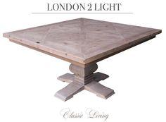 Lekkert og meget robust håndprodusert kvadratisk spisebord.  STR: Lengde:145 cm Bredde: 145 cm Høyde:  77 cm  Kommer på lager i juni/juli-16. kan forhåndsbestilles nå via http://ift.tt/1UdJ1or. by classicliving