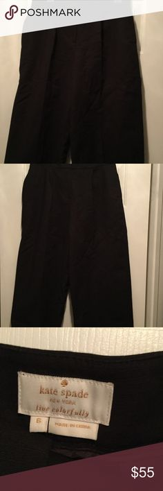 Black Kate Spade Gauchos These pants has been worn once ! So they are like new excellent condition!!! They are pleated with two back pockets!!! kate spade Pants Capris