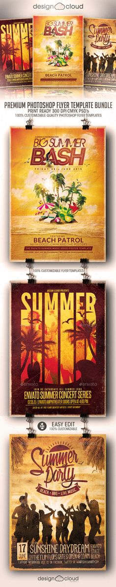 Summer Flyer Template PSD Buy and Download http\/\/graphicriver - summer flyer template