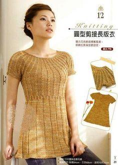 revista japonesa de tejer blusas raglán de las mujeres y el yugo ronda. Discusión sobre LiveInternet - Servicio de Rusia Diarios Online