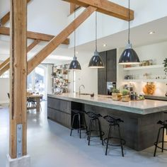 Home Interior Farmhouse .Home Interior Farmhouse Kitchen Style, Wood Kitchen Cabinets, House Interior, Rustic Kitchen, Modern Kitchen, Home Kitchens, Home Decor, Home Remodeling, Kitchen Inspirations