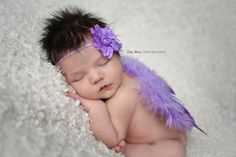 Lavender Purple Feather Angel Wings Newborn Baby Photo Prop | Beautiful Photo Props