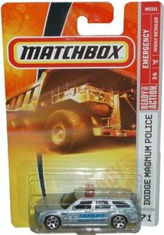 Mattel Matchbox 2007 MBX Emergency Vehicle 1:64 Scale # 71 - Brazos County Sheriff # 680 Silver Dodge Magnum