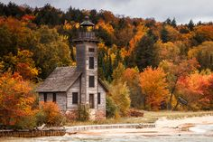Grand Island East Channel Lighthouse, Michigan.