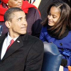 President Barack Obama and daughter Malia Obama