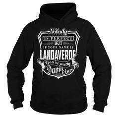 [Love Tshirt name printing] LANDAVERDE Last Name Surname Tshirt Discount Today Hoodies, Tee Shirts