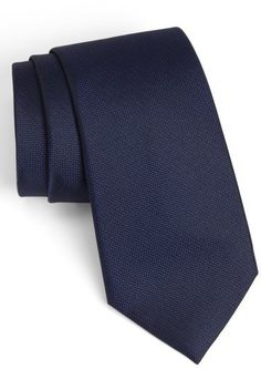 $49, Navy Tie: Calibrate Woven Silk Tie. Sold by Nordstrom. Click for more info: https://lookastic.com/men/shop_items/135719/redirect