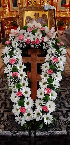 Altar, Holi, Floral Wreath, Wreaths, Flowers, Home Decor, Pictures Of Flowers, Floral Crown, Decoration Home